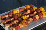 Boiled Shrimp Kebabs