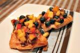 BBQ Salmon with NectarineSalsa