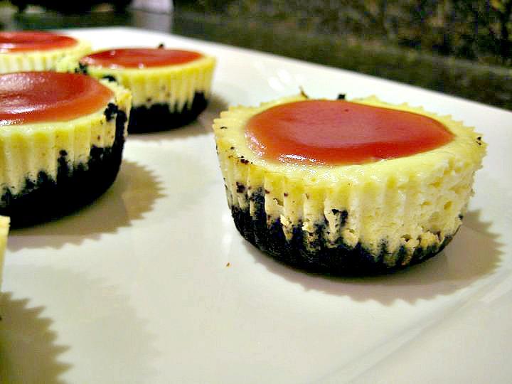 Black Bottom Mini Cheesecakes
