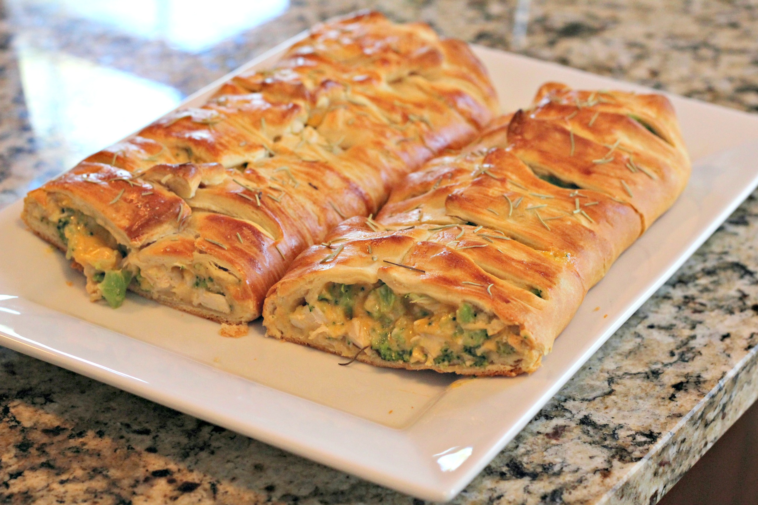 Broccoli-Cheddar Chicken Braid