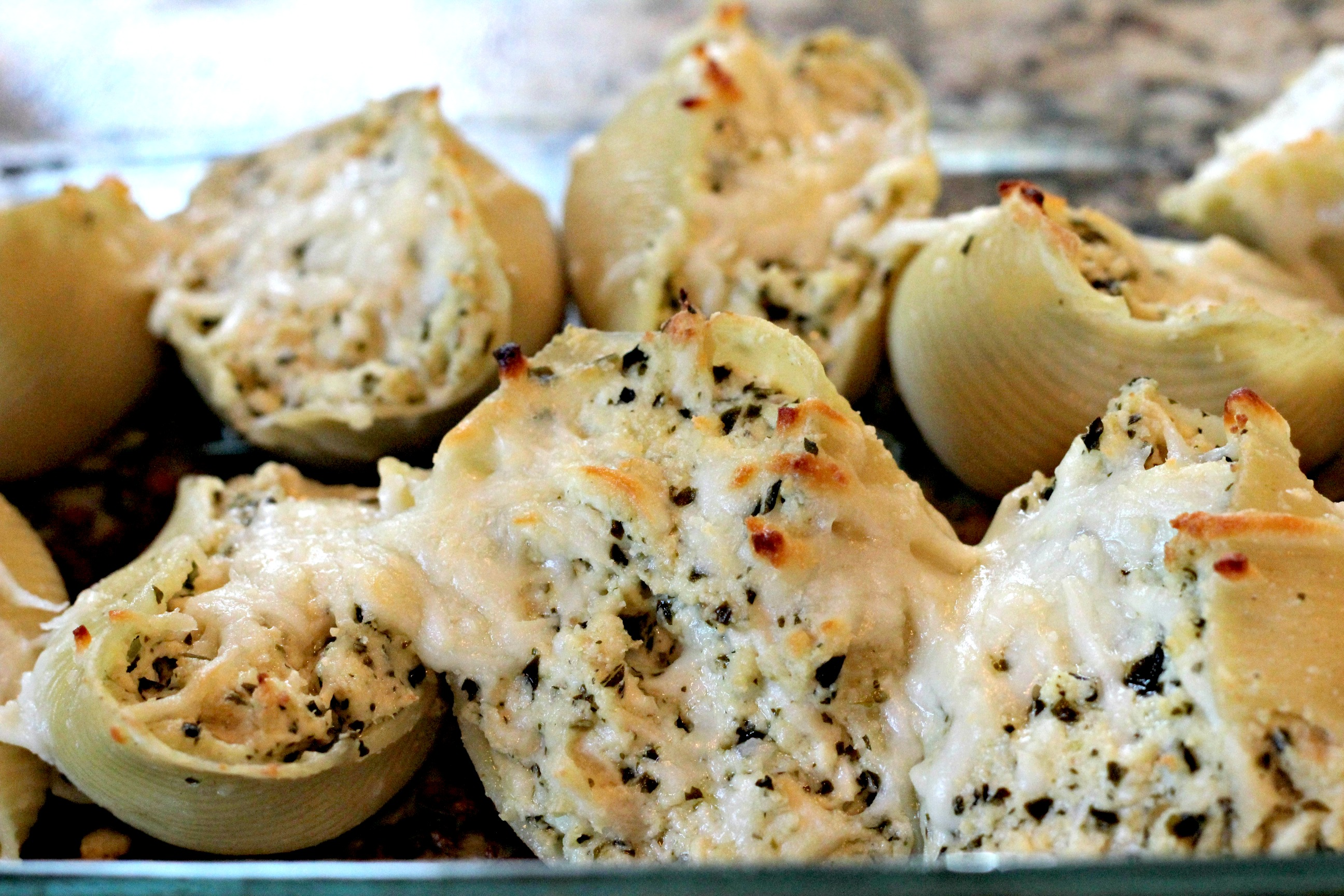 Chicken Pesto Pasta Shells