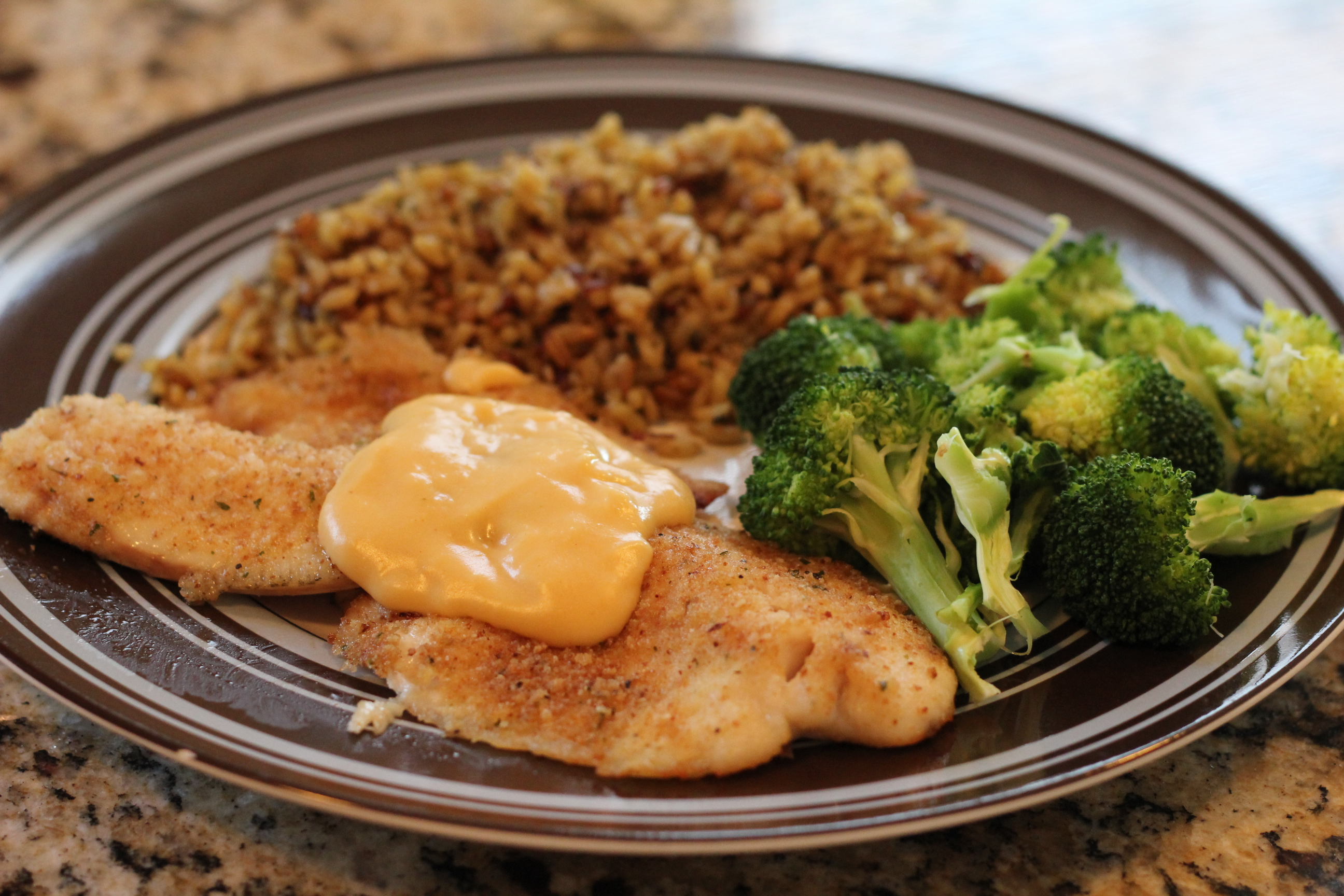 Baked Tilapia with Cheese Sauce