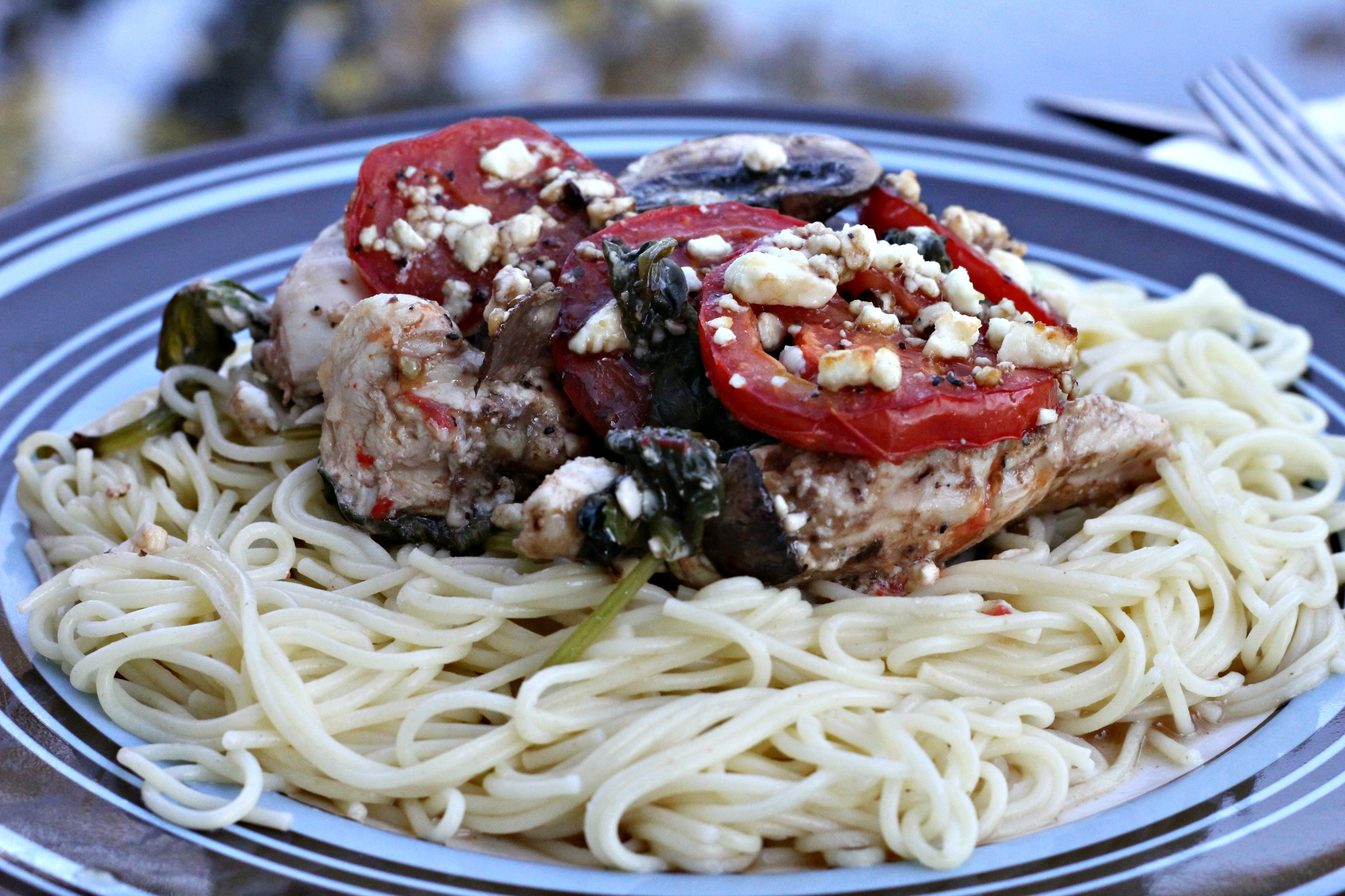 Greek Chicken with Pasta