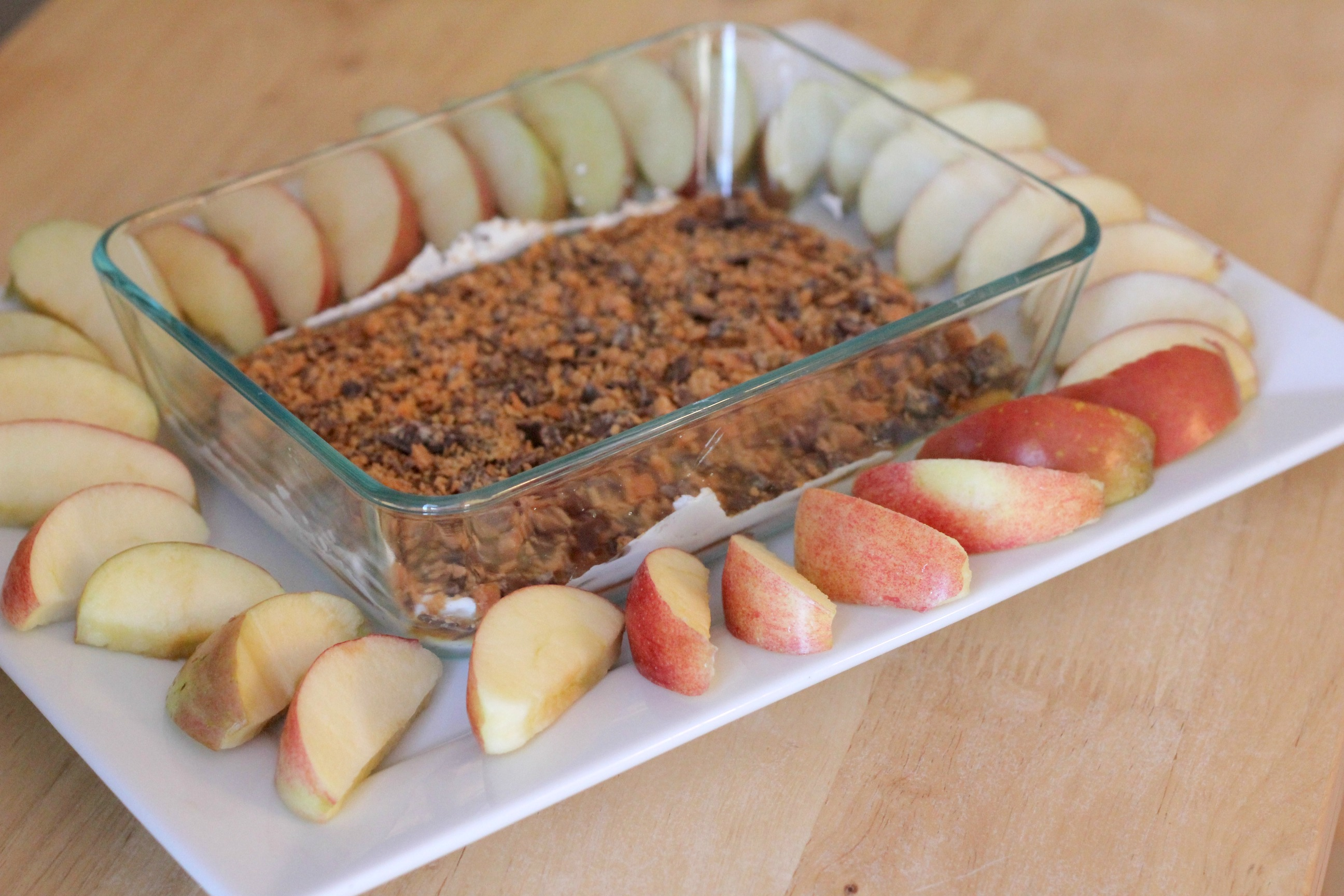 Caramel Cream Cheese Apple Dip | Normal Cooking