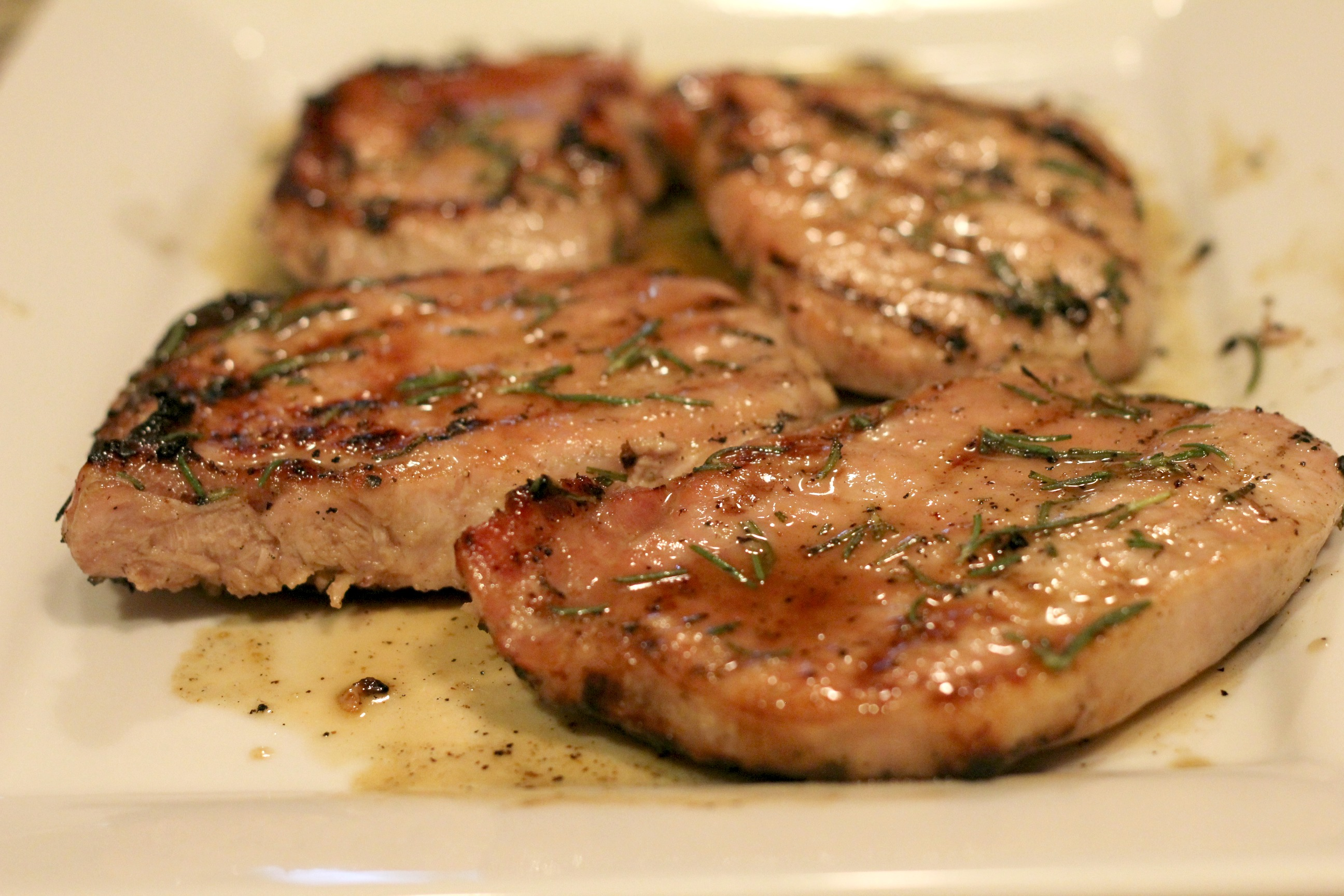 Grilled Honey Rosemary Pork Chops