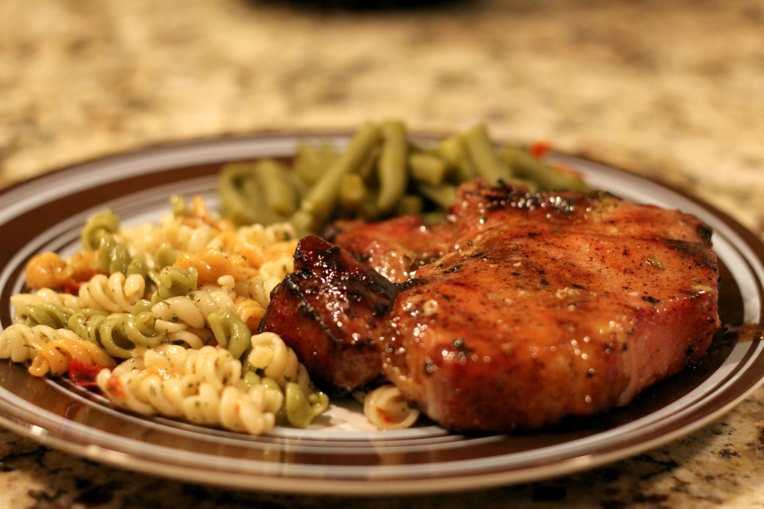 Doesn't that pork chop look AMAZING?! I do believe that's the ...