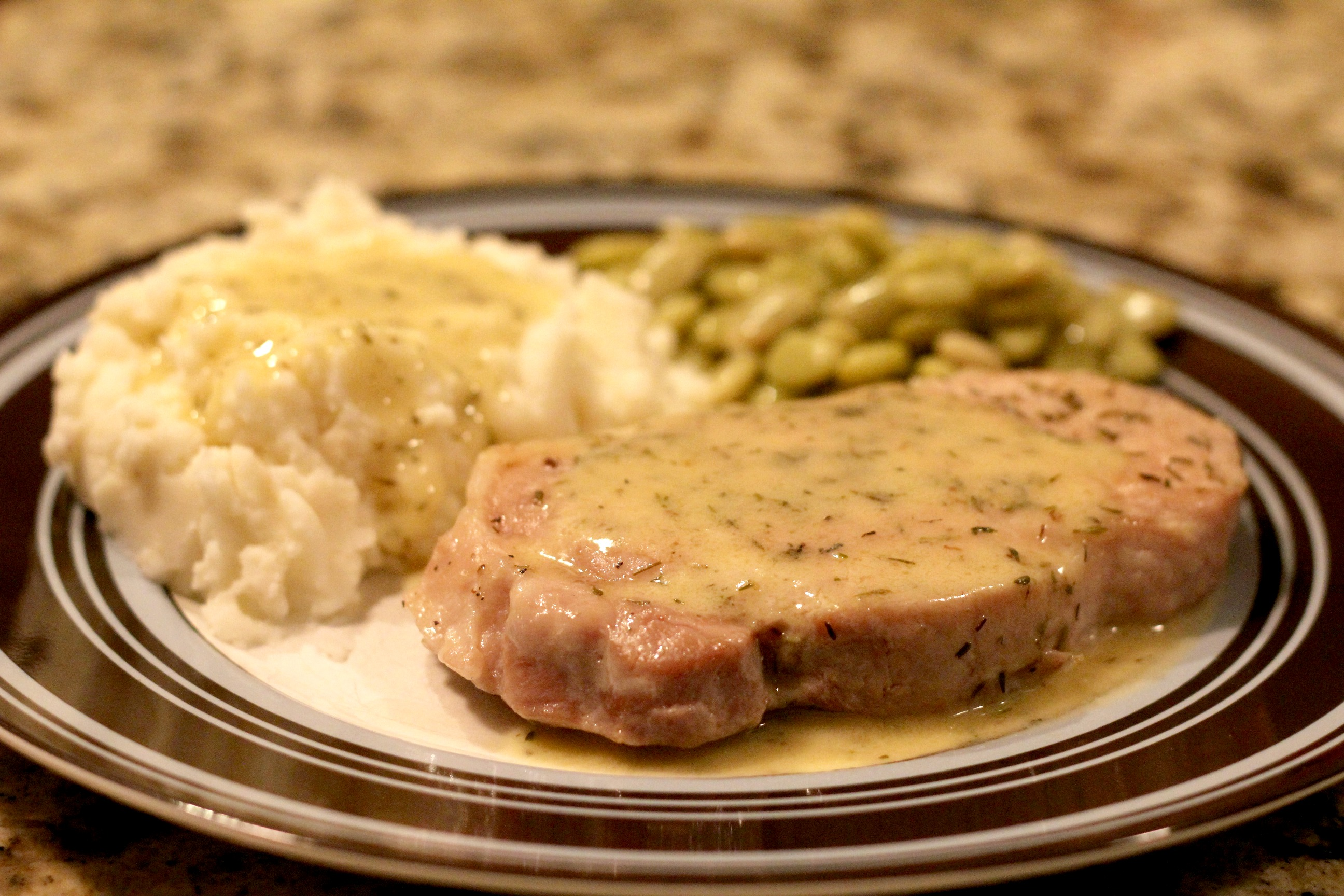 Pan Seared Thyme Pork Chops 2
