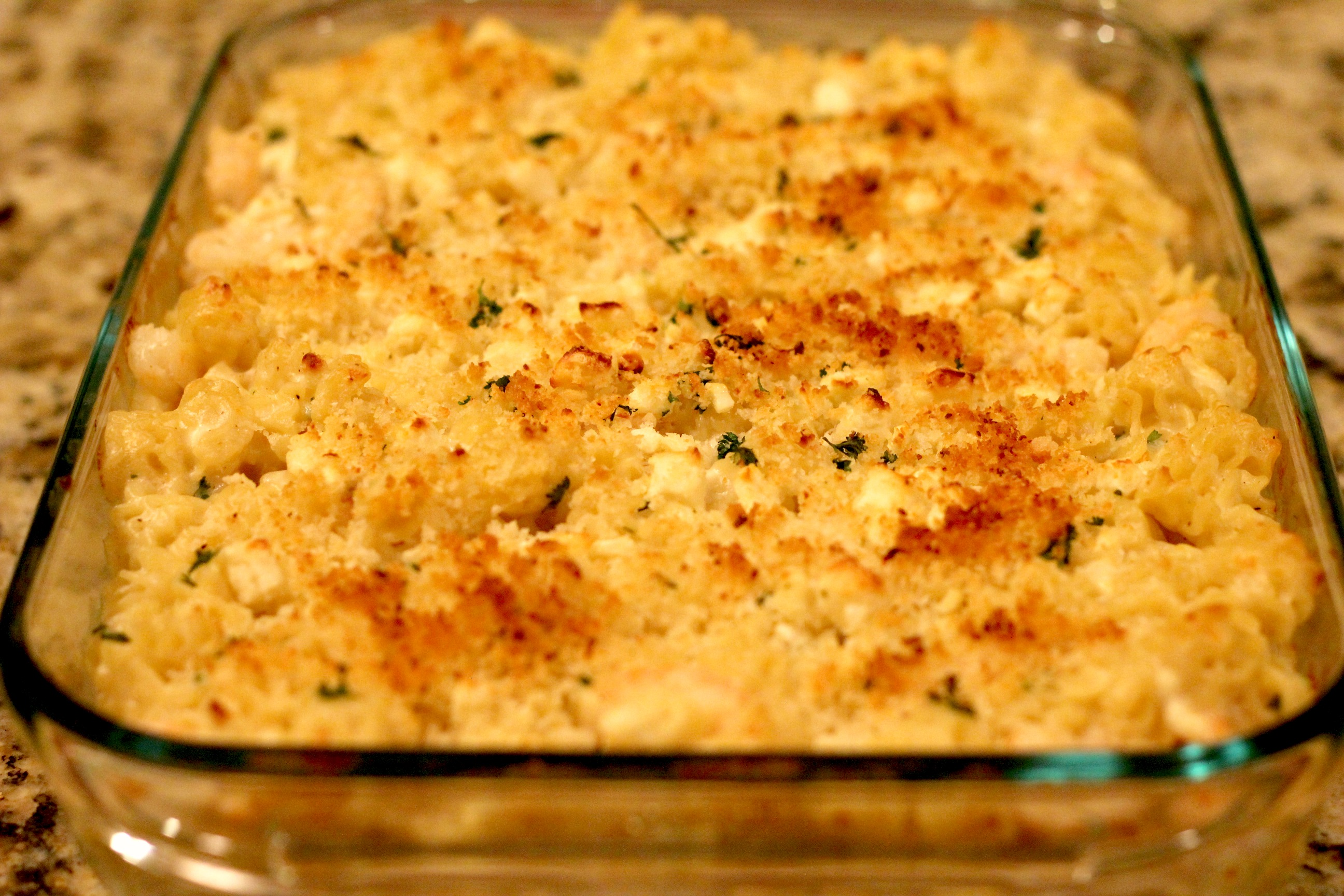 Shrimp & Feta Mac N Cheese 1