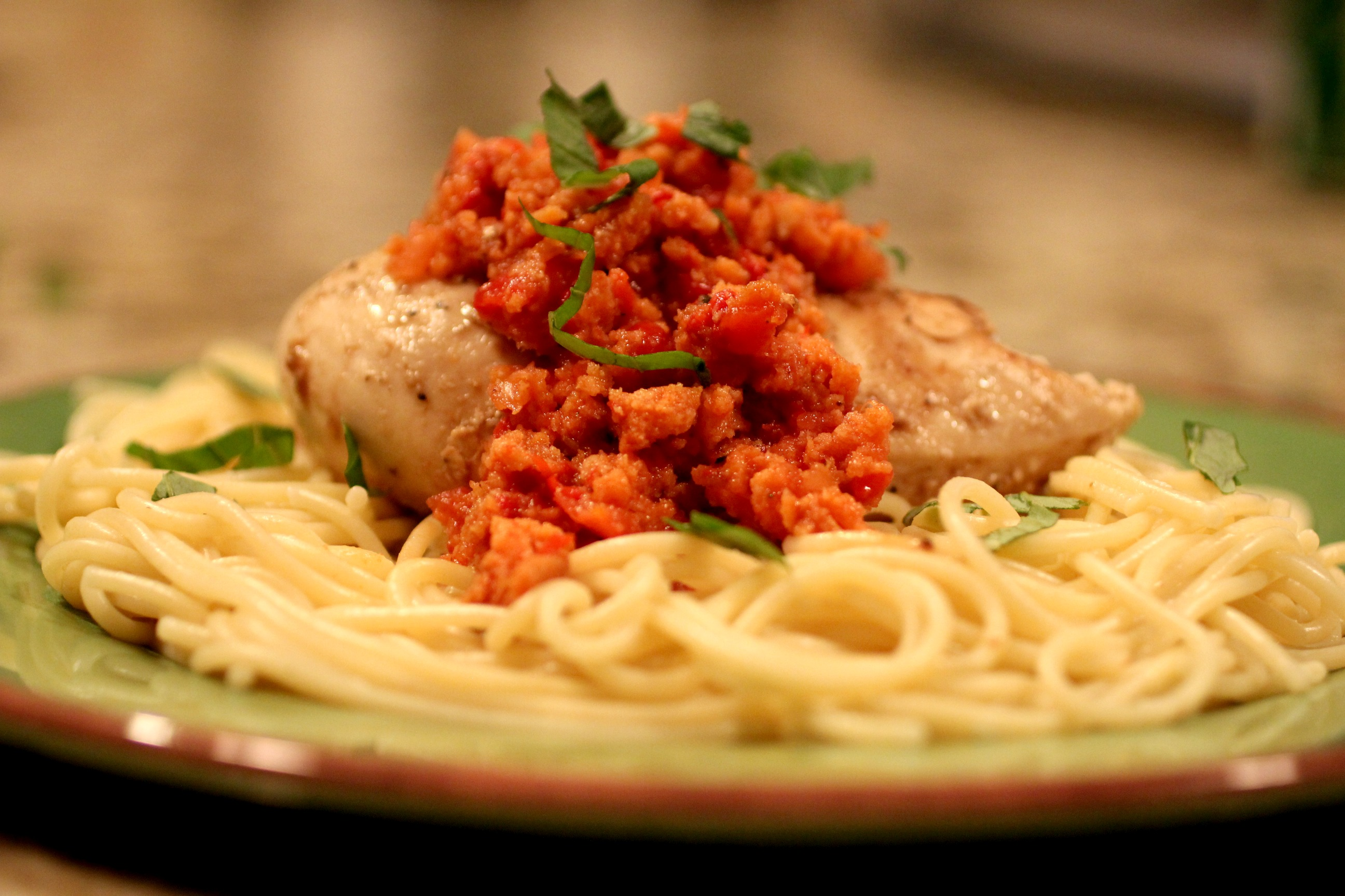 Chicken with Romesco Sauce 1