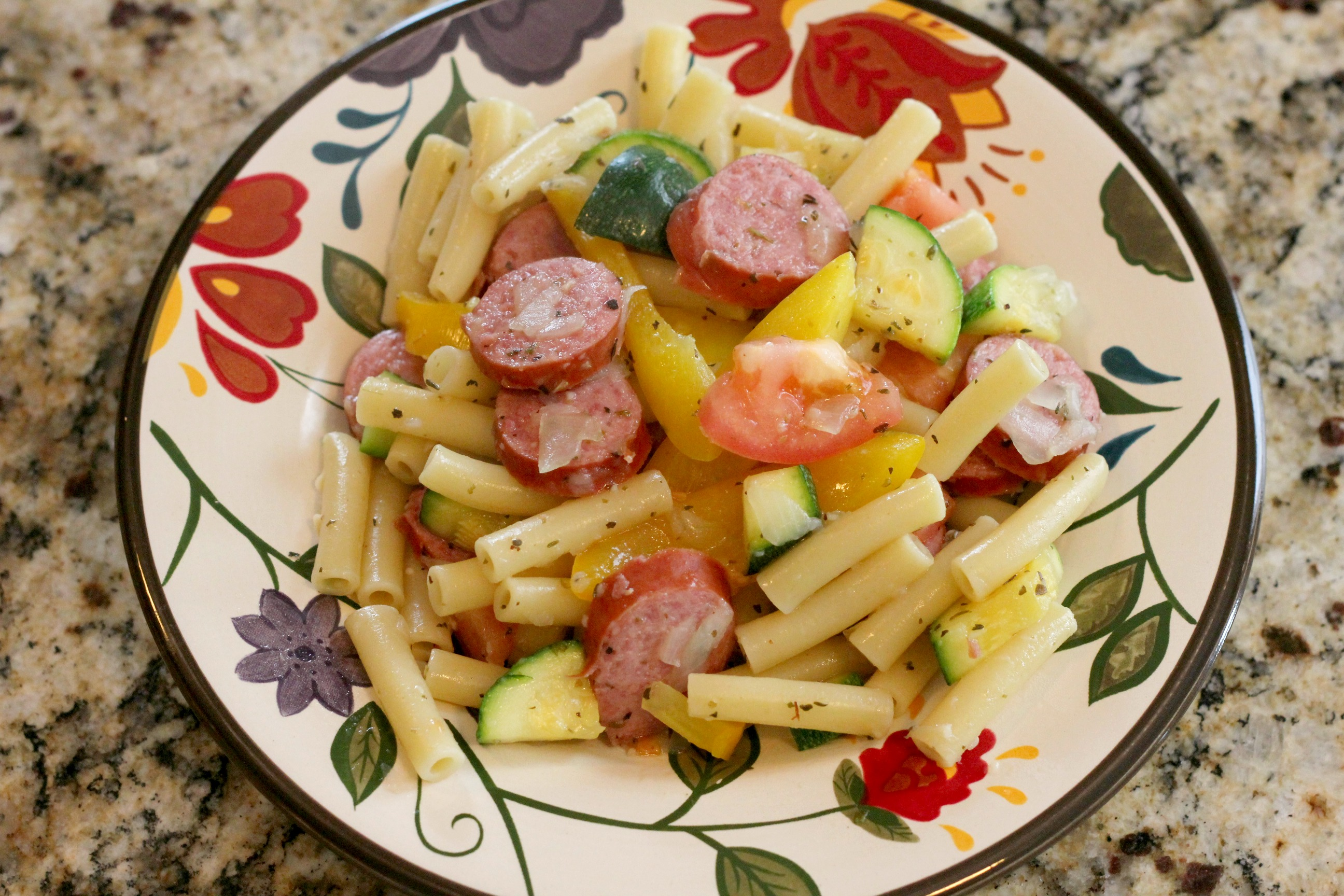 Sausage & Peppers Pasta 1