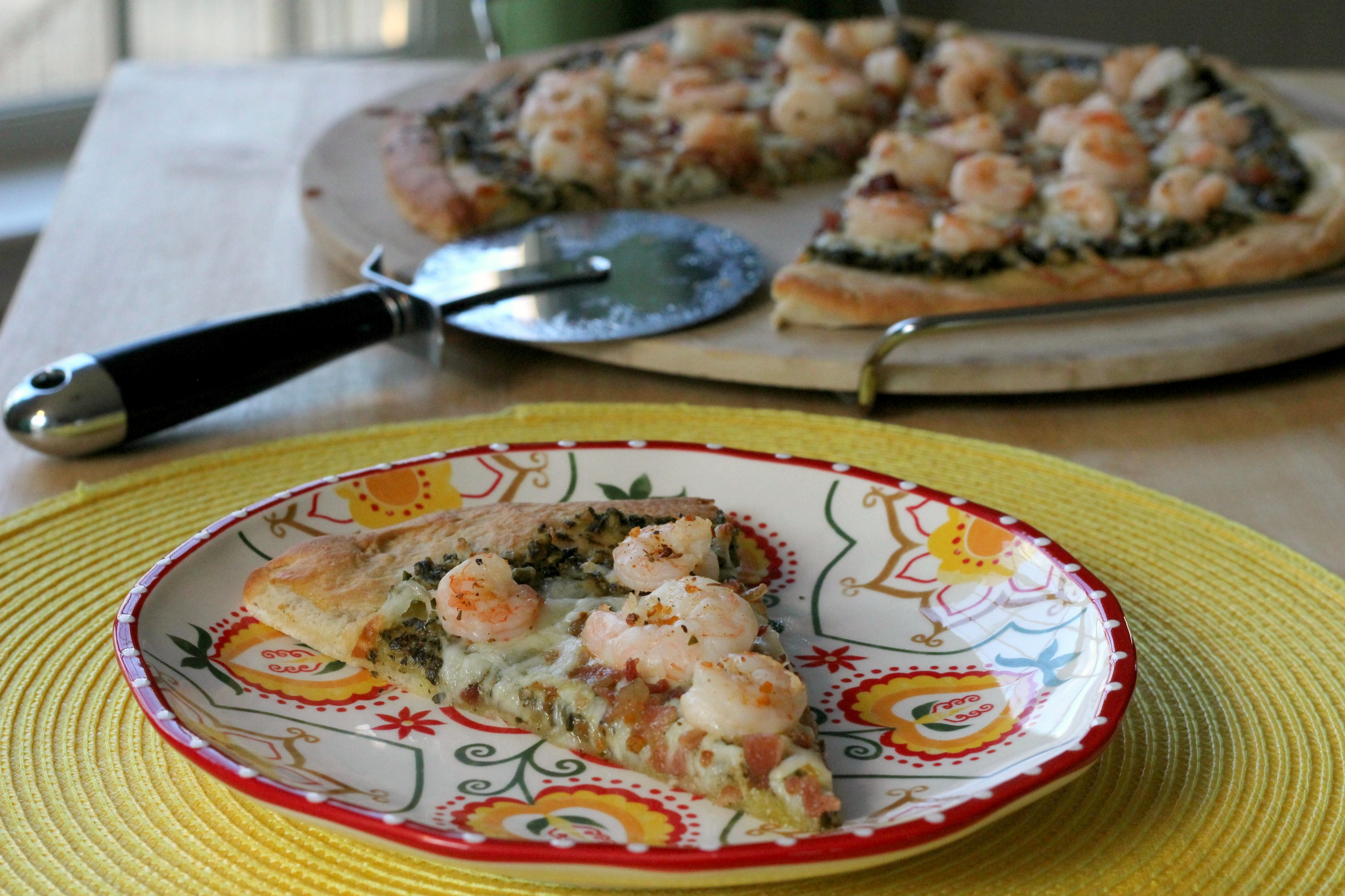 Shrimp & Pesto Pizza 3