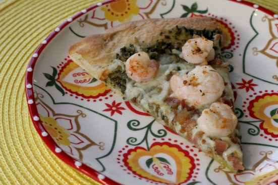 Shrimp & Pesto Pizza 4