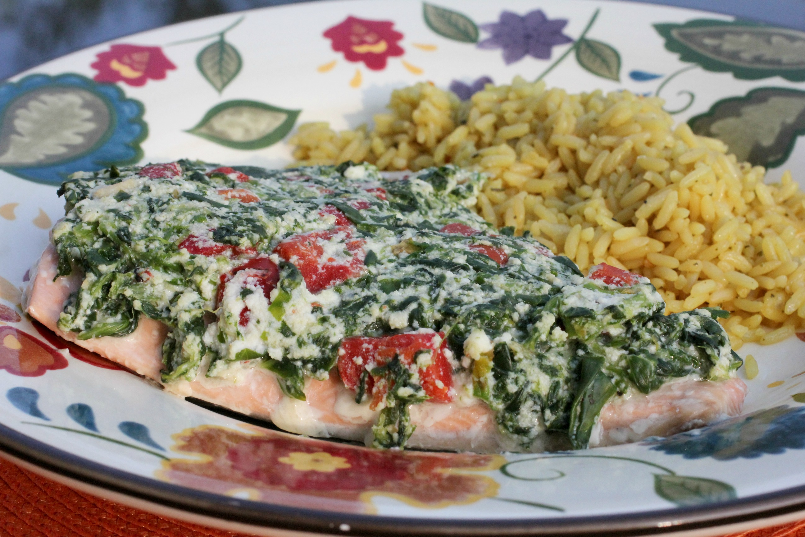 Salmon Florentine with Roasted Red Peppers 2