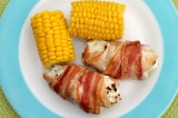 Cream Cheese Stuffed Chicken Wrapped in Bacon