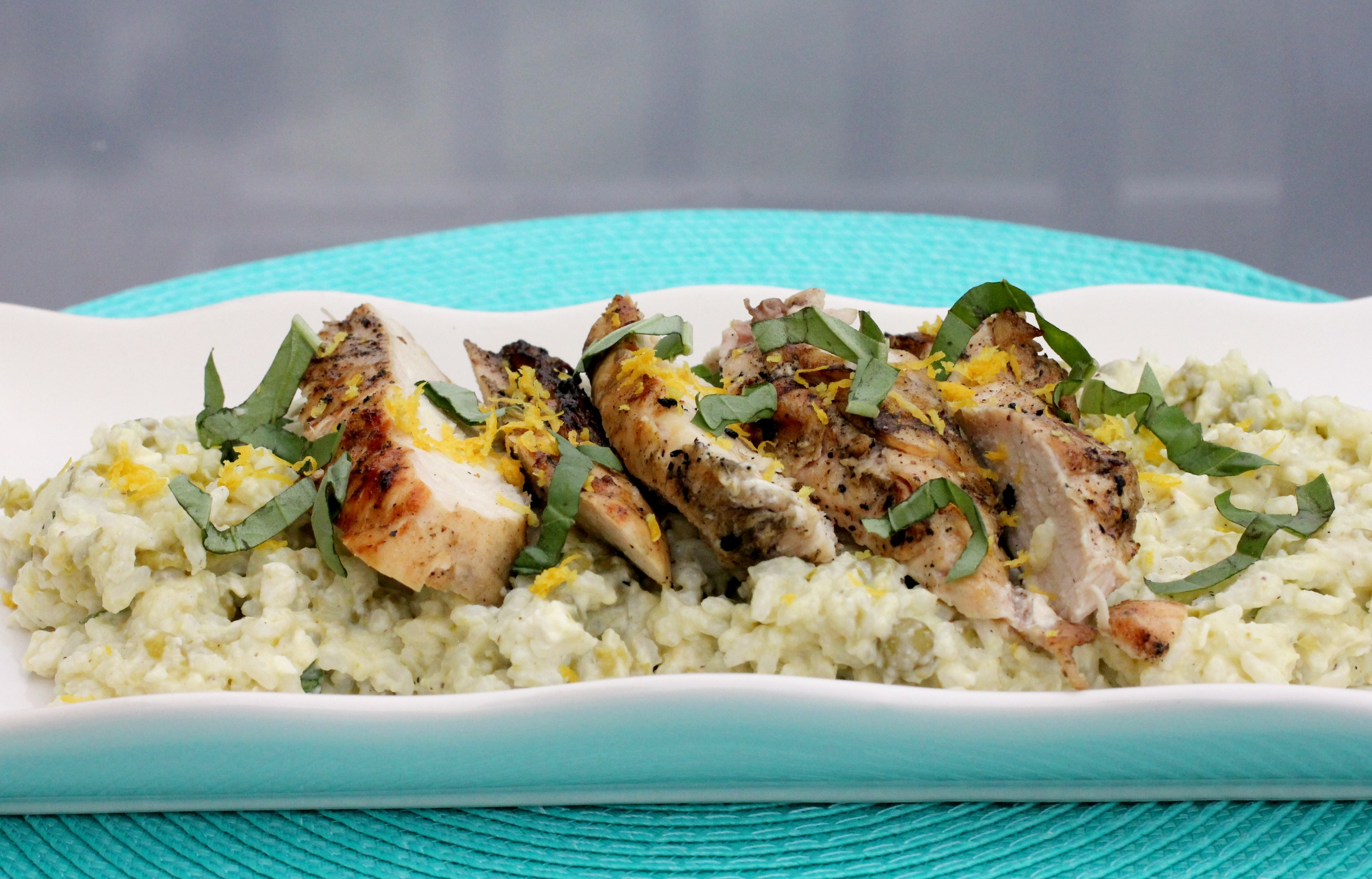 Grilled Chicken with Creamy Lemon Rice 1