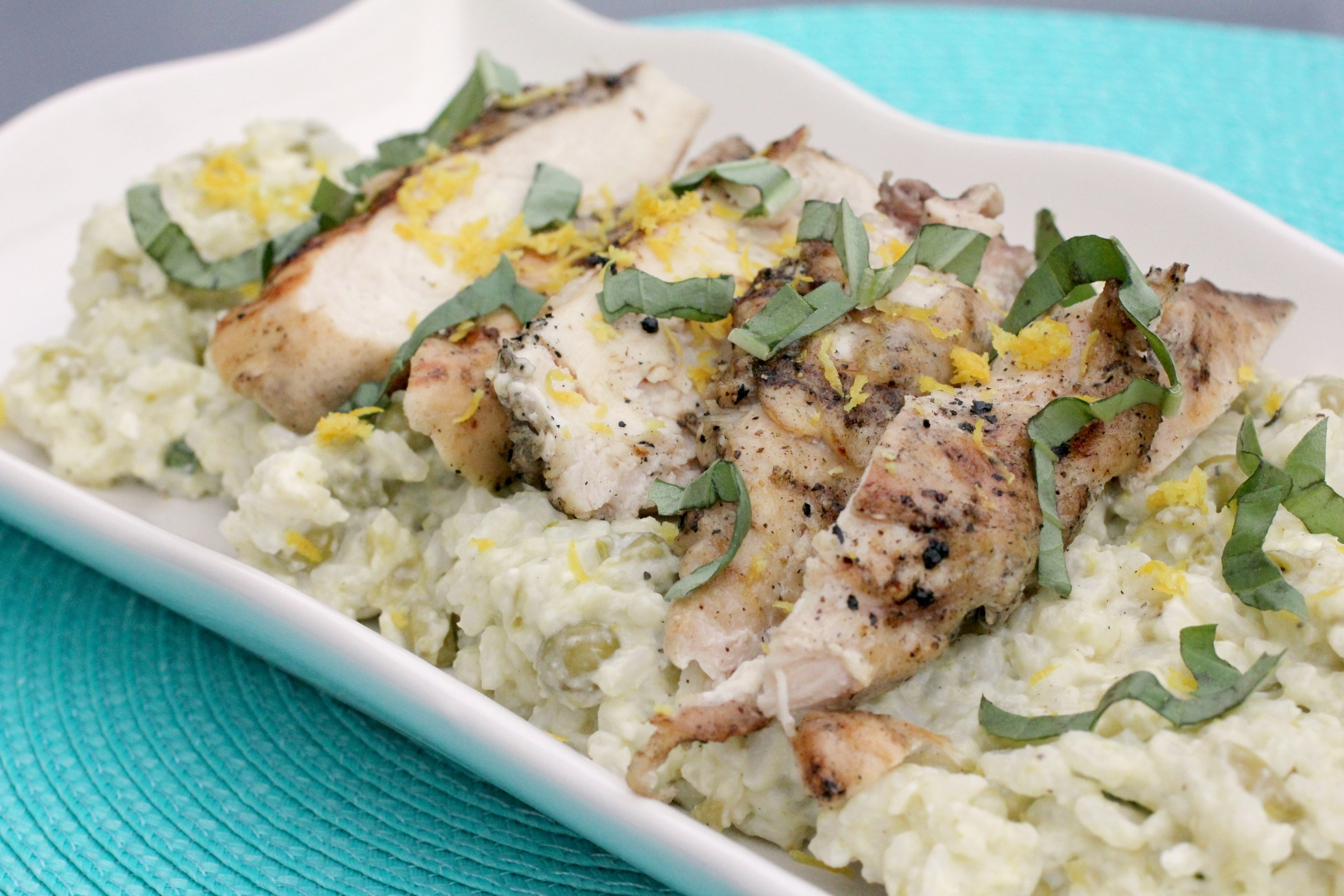 Grilled Chicken with Creamy Lemon Rice 2