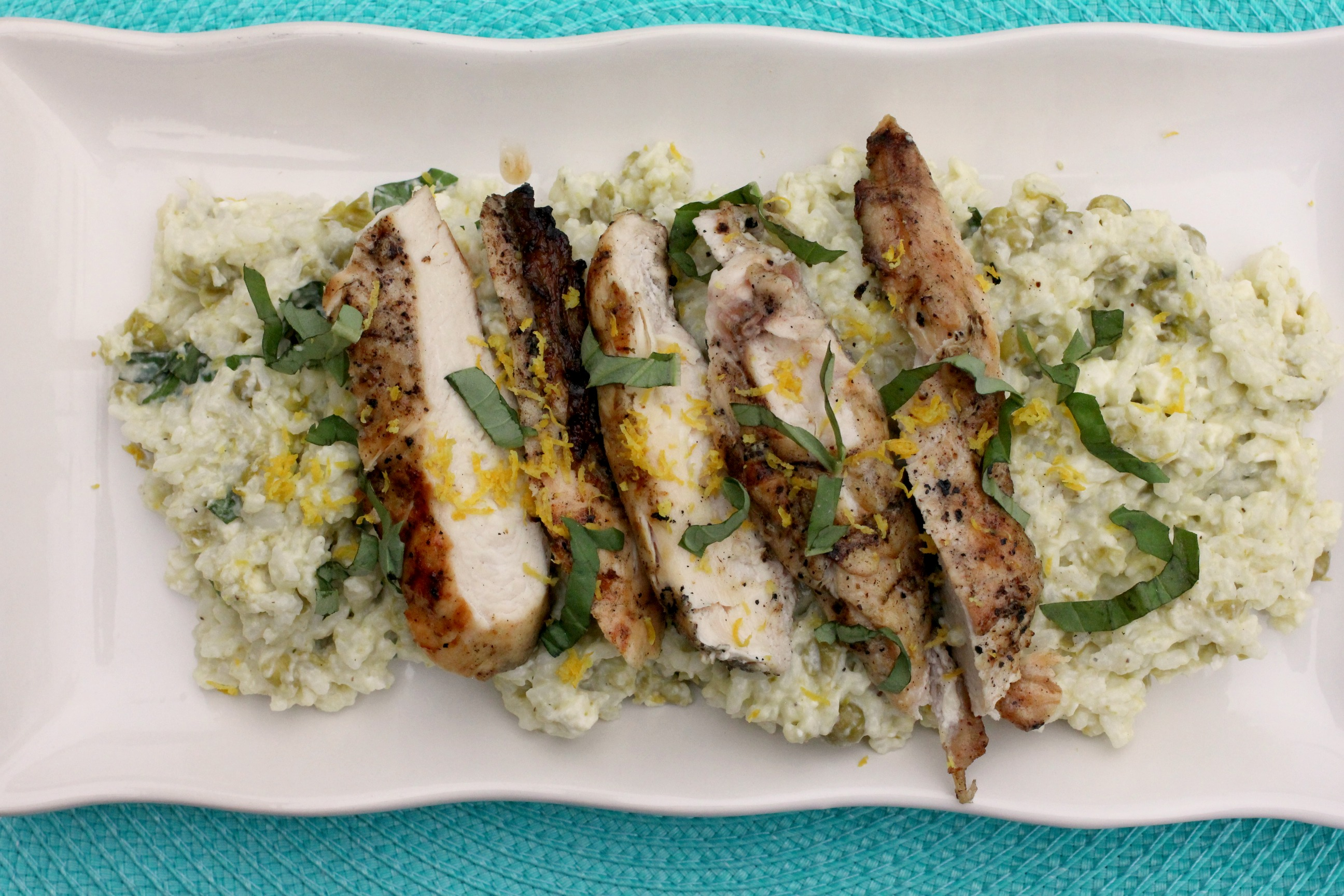 Grilled Chicken with Creamy Lemon Rice 3