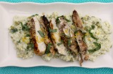 Grilled Chicken with Creamy Lemon Orzo Pasta